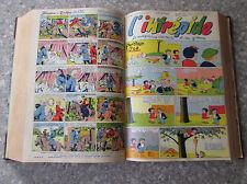 1954 1955 L'Intrépide Lot de 50 n° Reliés du N° 251 au N° 300