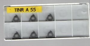 Lathe Threading Inserts -  small Internal  11NR- Whit / BSF, - new x 6
