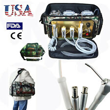 USA Dental Unit portable Bag Air Compressor Suction Syringe oilless 65L/min FDA