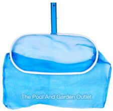 Swimming Pool Spa Pro Skimmer Leaf Rake w/Deep Net & Aluminum Handle, Frame