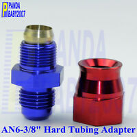 """Hard line Connect Tube Fitting 6# -6 6AN AN6 to Male 3/8"""" Tubing Hose Adapter RB"""