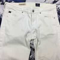 Adriano Goldschmied White The Stevie Petite Slim Straight Jeans Women's Size 26R