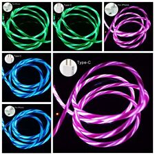 LED Flowing Light Up USB Charger Cable Data Sync Cord For iPhone Android 2020