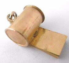Vintage REFEREE's WHISTLE WITH LOUD SOUND SPORTING CHARM  9ct yellow gold  2g