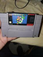 Super Mario World SNES Super Nintendo Original Game authentic cleaned working
