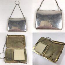Antique Solid Silver Compact Combination Card Case Lipstick Purse D Bros