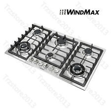 """New listing Us Seller~ 34"""" Stainless Steel 6 Burners Built-In Stoves Ng Gas Cooktops Cooker"""