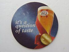 Vintage Beer Bar Coaster: KRONENBOURG 1664 ~ Gold Medal in 2004; Obernai, France