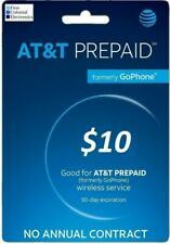 AT&T Prepaid $10 Refill Top-Up Prepaid Card / DIRECT RECHARGE