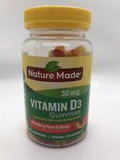 Nature Made Vitamin D3 Gummy's 50mcg 2000IU 150ct  Strawberry, Peach & Mango
