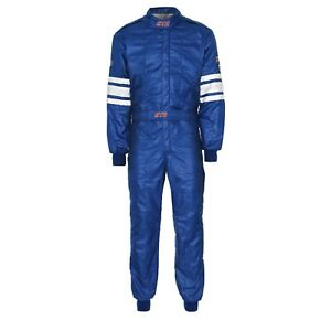 STR Double Layer Racesuit SFI 3.2A/5 Approved - Size Small - Blue BARGAIN