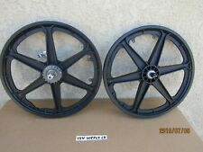 NEW BICYCLE SIX SPOKES MAG WHEEL SET , BLACK WITH COASTER BRAKE [ PEDAL BRAKE]