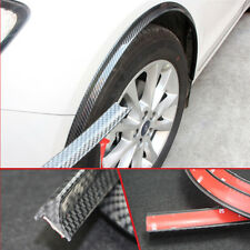 Black Carbon Universal Car Wheel Fender Trim Flares Scratch Protector 2x 150cm