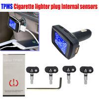 TPMS Car Wireless Tire Pressure Monitoring System Charger plu+4 Internal Sensors