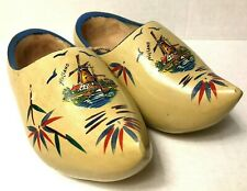 Decorative Dutch Wooden Clogs Made in Holland Windmills Size 14