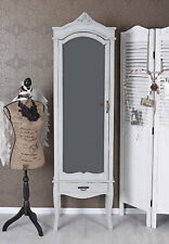 Wardrobe Country Style Hallway Cupboard Wood Cabinet with Mirror Antique
