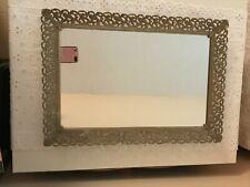 New ListingVintage Rectangular Vanity Dresser Mirror Tray Metal Frame