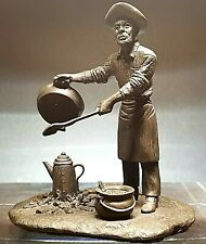 The Franklin Mint Western Bronzes The Chuck-Wagon Cook Issue No. 2 Limited 1976