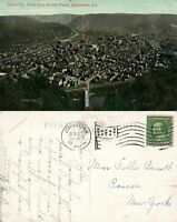 JOHNSTOWN PA VIEW FROM INCLINE PLANE 1909 ANTIQUE POSTCARD