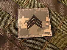Galons US - SERGEANT - grade scratch ACU DIGITAL rank insignia SNAKE PATCH
