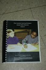 PEER ASSISTED LEARNING STRATEGIES PALS Student Math Materials 4th Grade 4 Fuchs