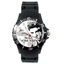 ELVIS PRESLEY WATCH Stainless Steel SILICONE MUSIC KING LEGEND ROUND CD WATCH E0