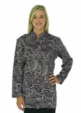 NWT Coldwater Creek Long Fitted 3/4 Sleeve Jacket Plum Paisley Tapestry Blazer M