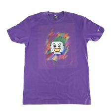 Rare Lego Super Villains Joker DC Comics PS4 XBOX One T Shirt Size Large