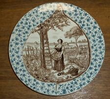 Old German Plate / Dish - Woman Picking Apricots - Apricotier