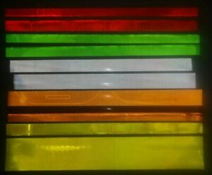 MIXED COLOURS hi vis reflective material strips 100+(none heat seal)art's &
