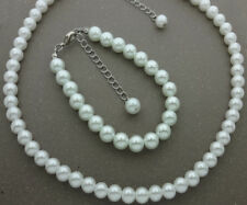 Pearl Necklace Bracelet Set Wedding Bridesmaid Necklace Jewelry Bridal Gift