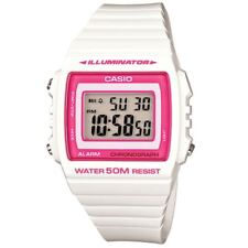 Casio W215h-7a2 Digital Sport Ladies Teens Quartz Watch 50m Alarm White Resin