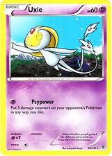 2x Pokemon Plasma Blast Uxie 36 Rare Card