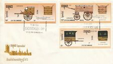 L1483 Cambodia London May 1990 cancel stamps First Day Cover