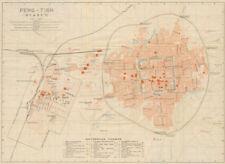 'Feng-tien (Mukden)'. Shenyang antique town city plan. Liaoning, China 1913 map