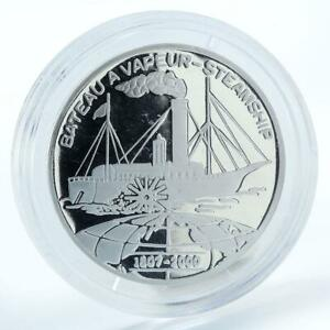 Benin 1000 francs Bateau a Vapeur-Steamship 1807 silver coin 2000