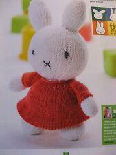 Knitting Pattern Miffy Lapin Jouet Doux.