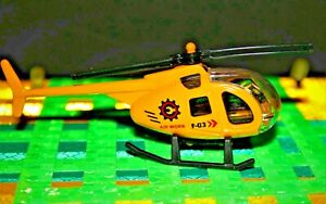 Diecast Metal Helicopters 4 Yellow Engineering 1:64 Scale Kids Toy ho scale