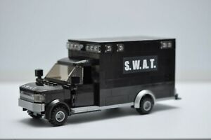 LEGO SWAT Truck Cop SUV Black Police Speed Champions City Custom Built MOC