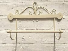 Shabby Chic Kitchen Roll Holder French Vintage Hand Towel Ivory Scroll
