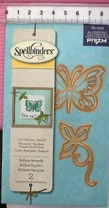 Spellbinders Die 'Brilliant Butterfly' 2 Dies S1-012 ~ Butterfly And Leaves Leaf