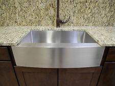 "27"" Stainless Steel Farmhouse Front Apron Single Bowl Kitchen Sink"