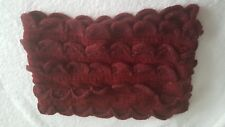LADIES BURGANDY SNOOD NECK SCARF WINTER WARM BNWOT