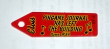 """Promo Plastic for Elvis Pinball Machine by Pingame Journal 2.25"""" x 5/8"""""""