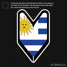 Uruguayan Driver Badge Sticker Die Cut Decal wakaba leaf soshinoya Uruguay URY