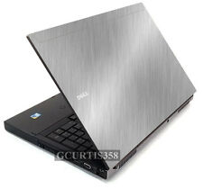 BRUSHED ALUMINUM Vinyl Lid Skin Decal fits Dell Precision M6400 M6500 Laptop