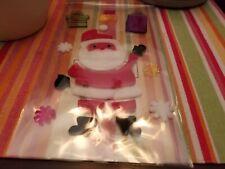 Santa Gel Window Clings New