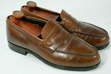 Tim Little of Grenson Whiskey & Women Penny Loafers Brown Leather Rubber Sole 8E