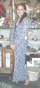 New Womens Size M Dress Temptation Blue Black Sleeveless w/Jacket Nostalgic