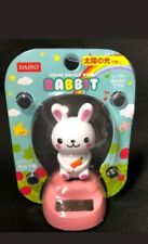 Solar Power Dancing Toys Cute Rabbit With Carrort Bobblehead Toys New Free Ship